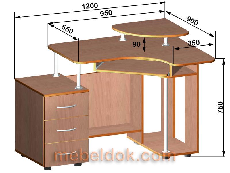 Схема чертеж компьютерных столов