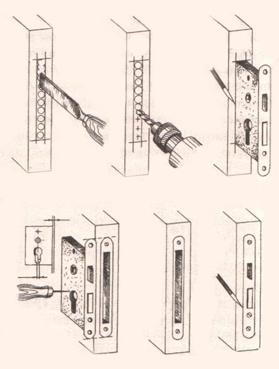 Установка замка инструкция