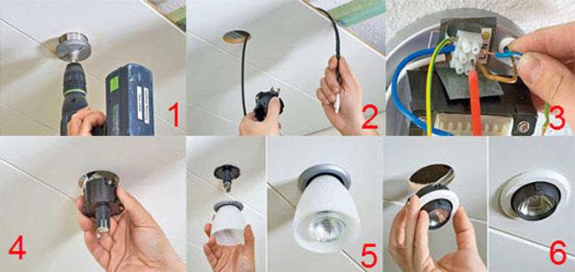 Как сделать лампочку в люстре