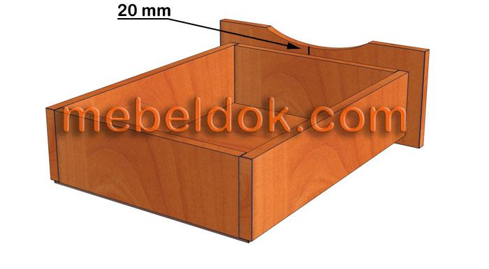 Как сделать выдвижной ящик с фасадом без ручек
