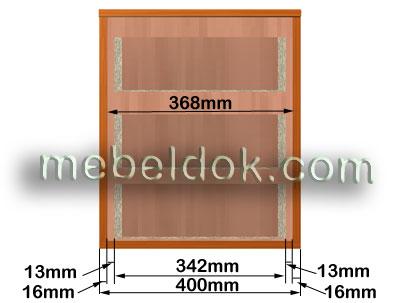 Расчёт ширины выдвижного ящика