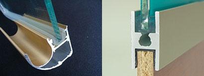 уплотнитель в вертикальном и соединительном профилях