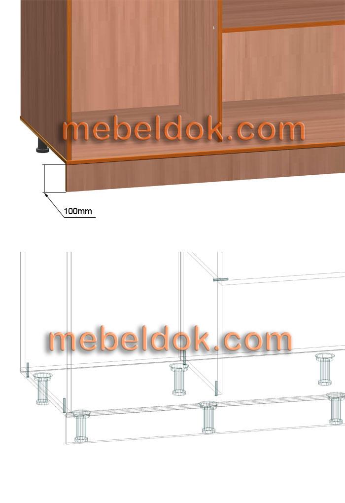 Конструкция шкафа купе