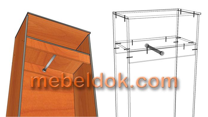 Особенности установки штанги для одежды в шкафах купе - www..